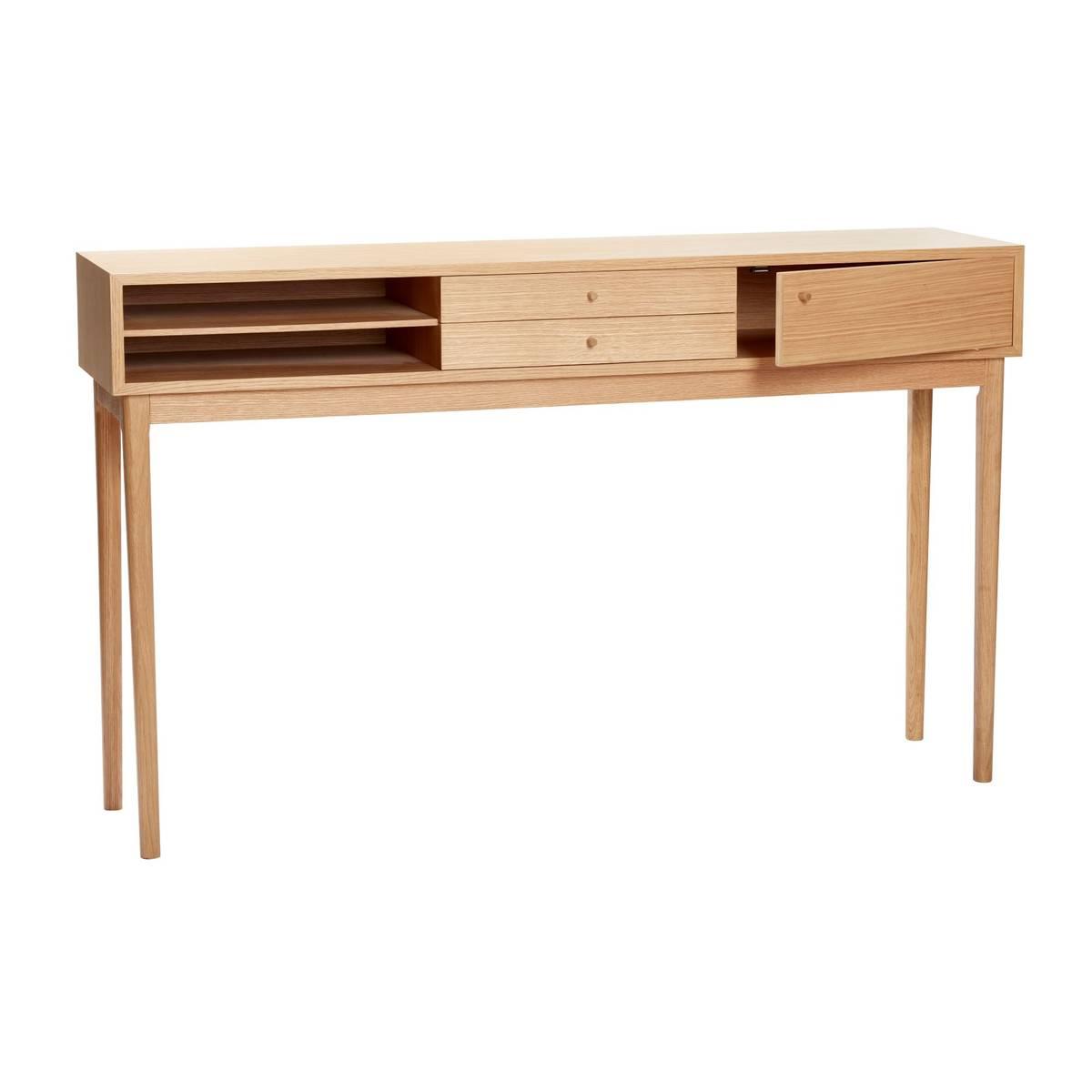 Konsollbord i eik m. skuffer - Hübsch
